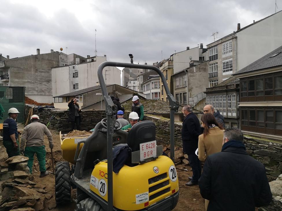 La Xunta inicia las obras de restauración del cubo XXXI de la Muralla de Lugo