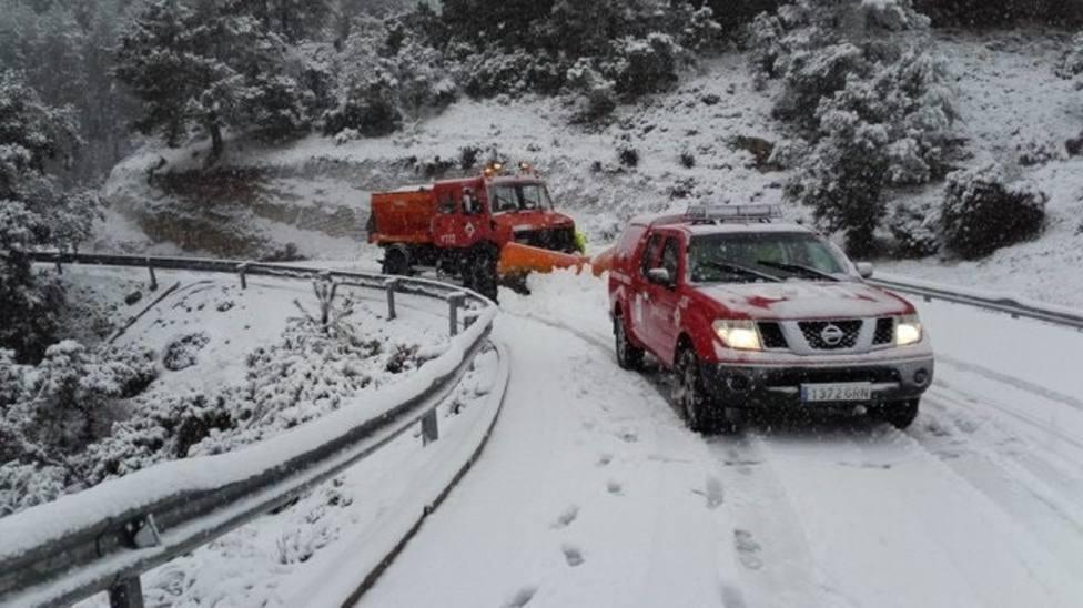 Ocho provincias, en alerta roja mañana por nieve, olas y viento por el temporal Gloria