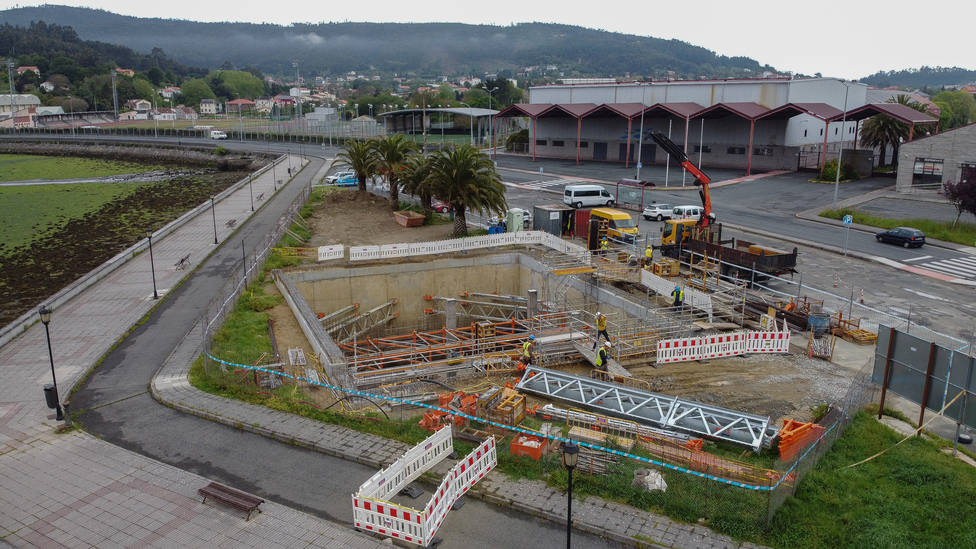 Obras de saneamiento en la zona de A Malata. FOTO: Consellería de Infraestructuras