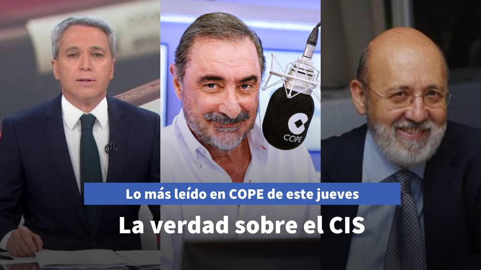 Herrera desvela la verdad sobre el CIS de Tezanos, entre lo más leído de este jueves