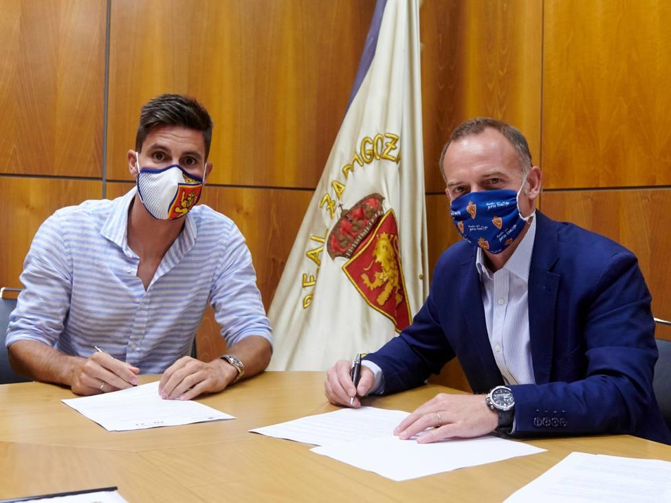 Adrián González. Real Zaragoza. Christian Lapetra