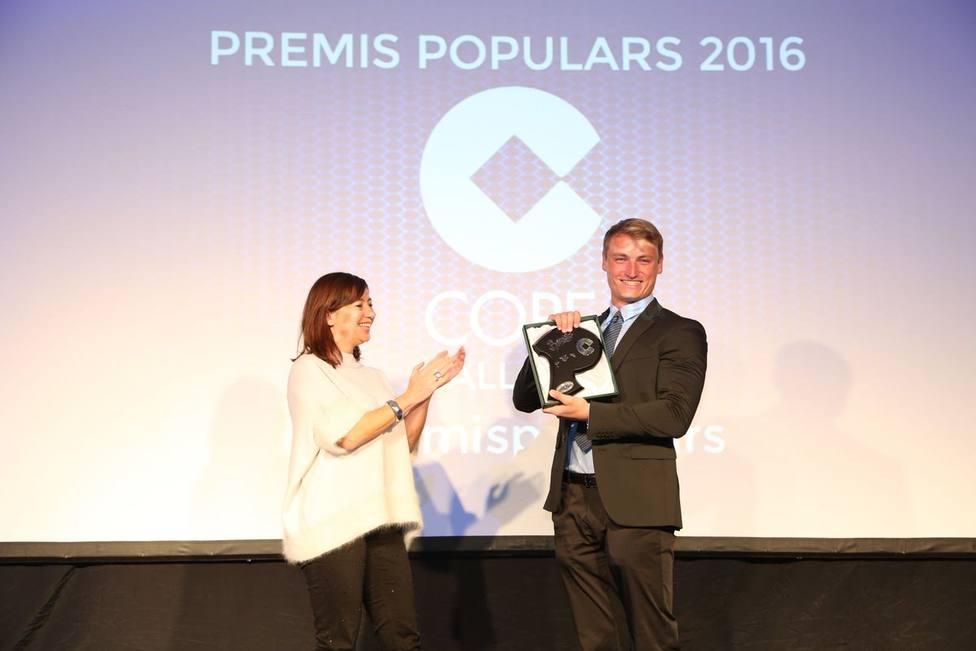 Marcus Cooper, en los Premios Populares de Cope Mallorca