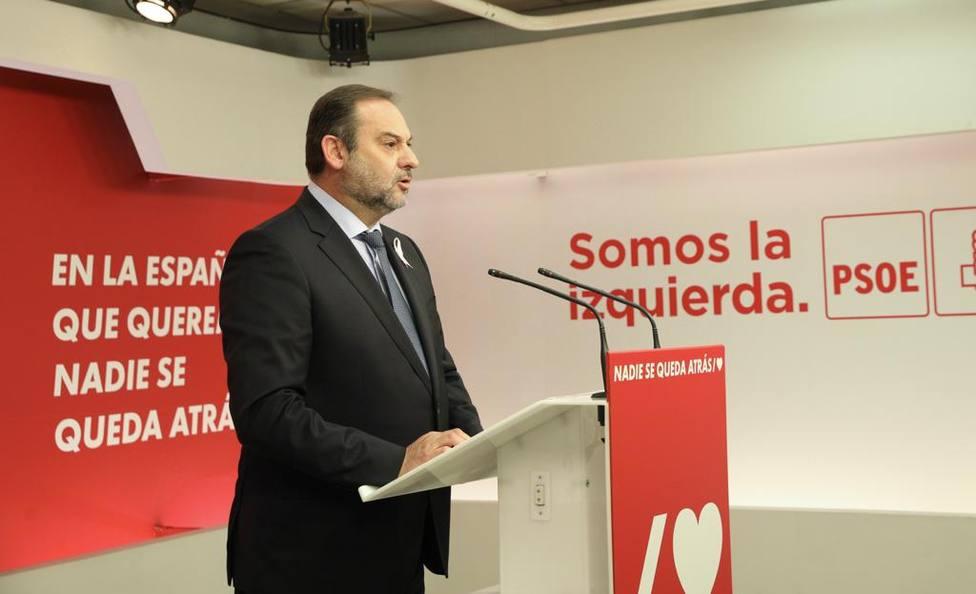 Rueda de prensa de Ábalos tras la reunión de la Ejecutiva Federal del PSOE