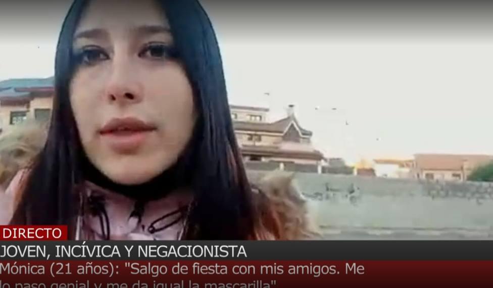 Mónica, la joven que ha indignado a toda España: Salgo de fiesta todos los findes y no llevo mascarilla