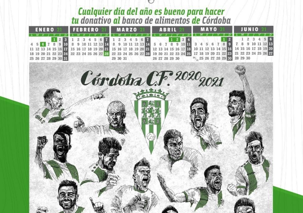 El calendario solidario cordobesista de @cocinillasccf cuyos fondos irán destinados al Banco de Alimentos