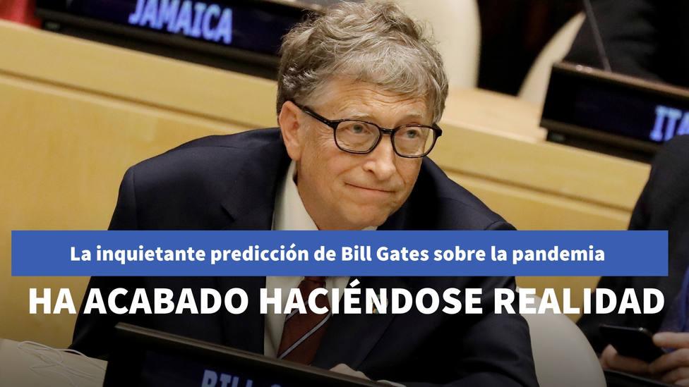 La inquietante predicción de Bill Gates sobre la pandemia que ha acabado haciéndose realidad