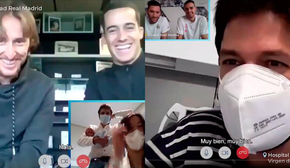 Jugadores del Real Madrid sorprenden a personas hospitalizadas