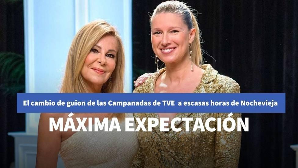 El cambio de guion de TVE a escasas horas de las Campanadas con Ana Obregón y Anne Igartiburu