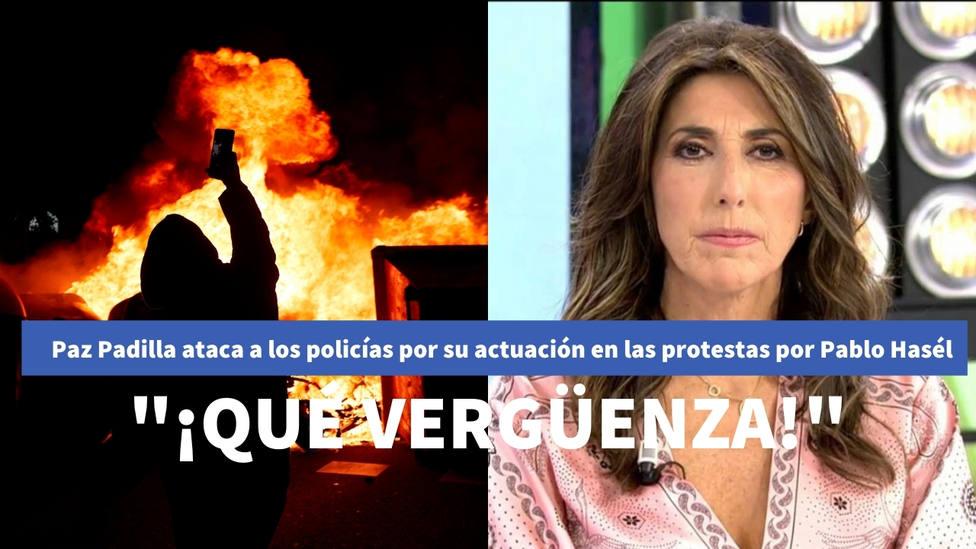 Paz Padilla, obligada a borrar un vídeo tras criticar a la Policía en las protestas por Hasél: ¡Vergüenza!