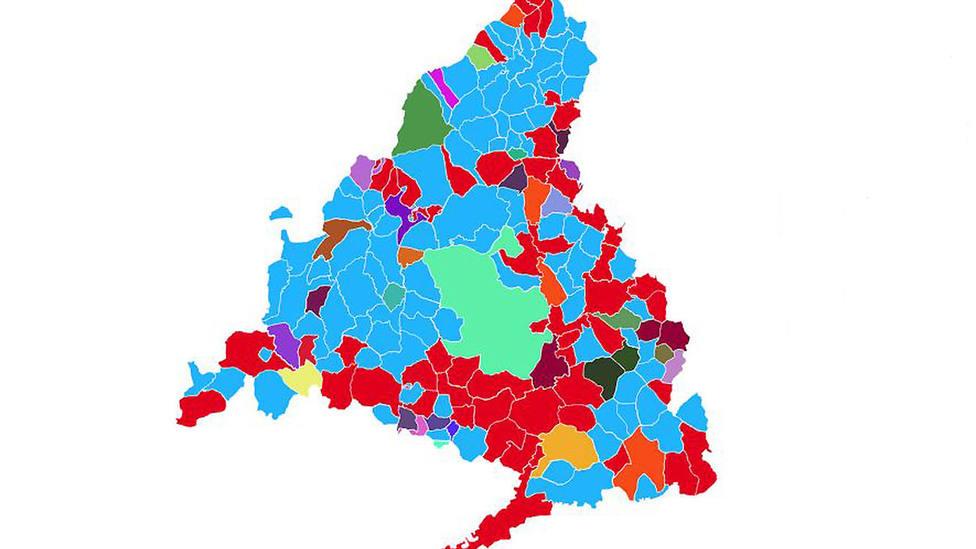 Mapa de Madrid en las elecciones autonómicas 2019
