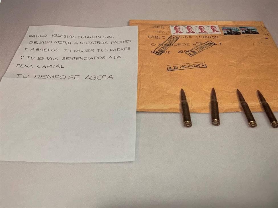 Pablo Iglesias, ha asegurado que denunciará ante los juzgados las amenazas recibidas en un carta dirigida a él