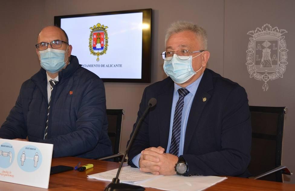 Los concejales Manuel Villar y Antonio Manresa