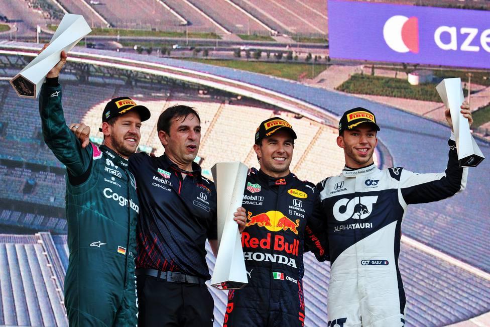 Podio del GP de Azerbaiyán de 2021