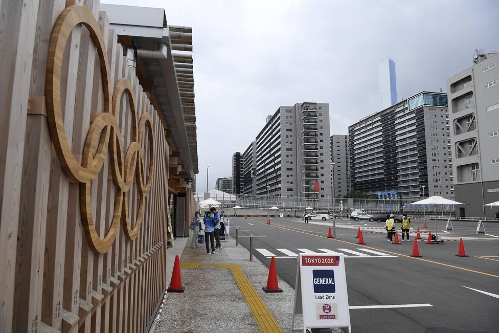 Entrada a la villa olímpica de Tokio.
