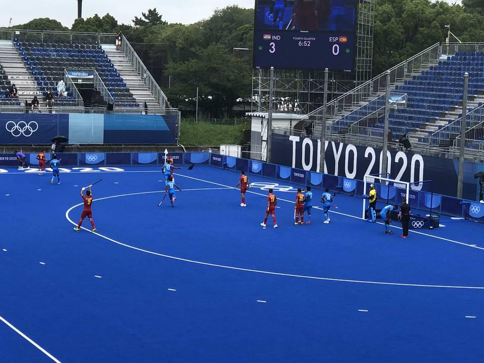 Imagen del España-India del hockey masculino