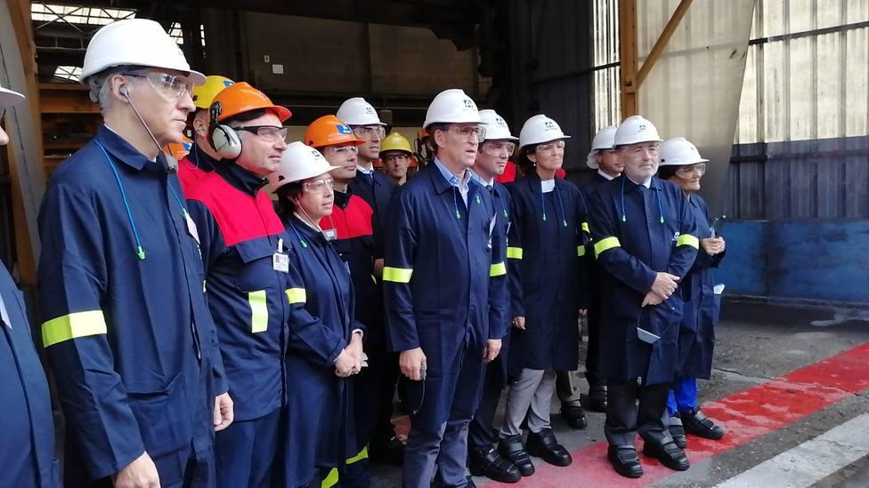 La ministra de Industria visitó Alcoa acompañada por Feijóo