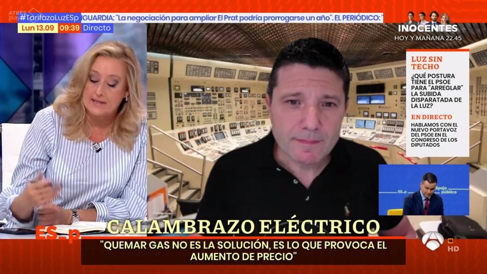 Elisa Beni la lía en Espejo Público con un experto en energía nuclear: Es literalmente mentira
