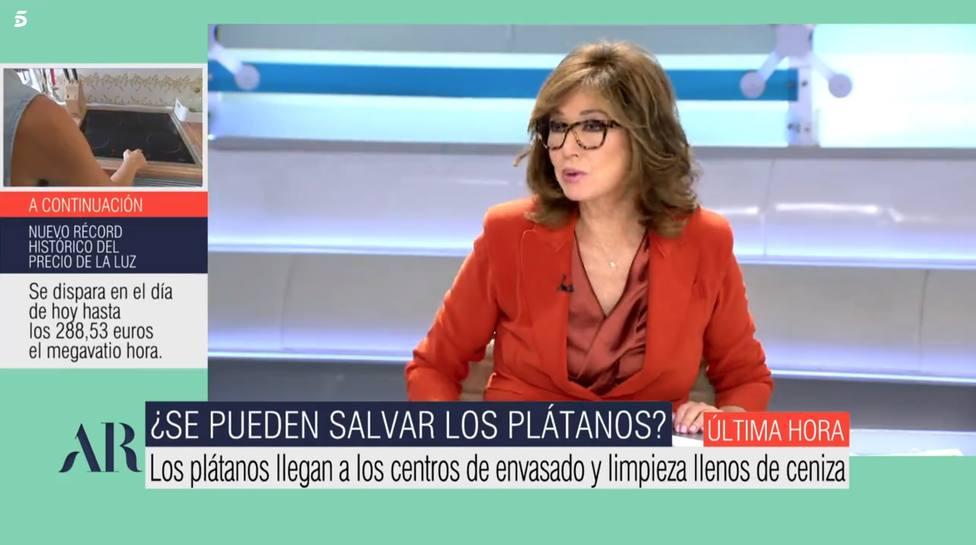 Ana Rosa estalla por lo que se hace en La Palma con los plátanos: Nos estamos volviendo...