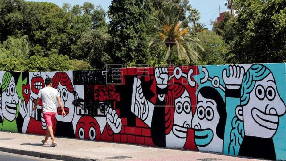 Valencia cede un espacio público para un mural que critica el fallo judicial de Alsasua