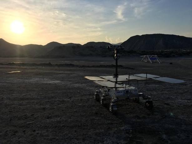 El rover ExoMars, adiestrado para Marte en Almería desde Reino Unido