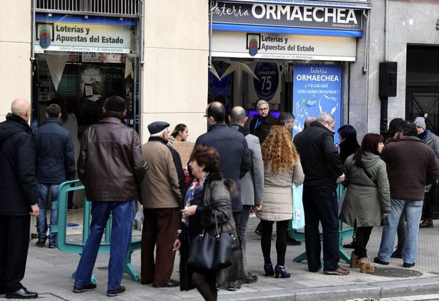 Cada vasco jugará 76,83 euros en el sorteo de la Lotería de Navidad