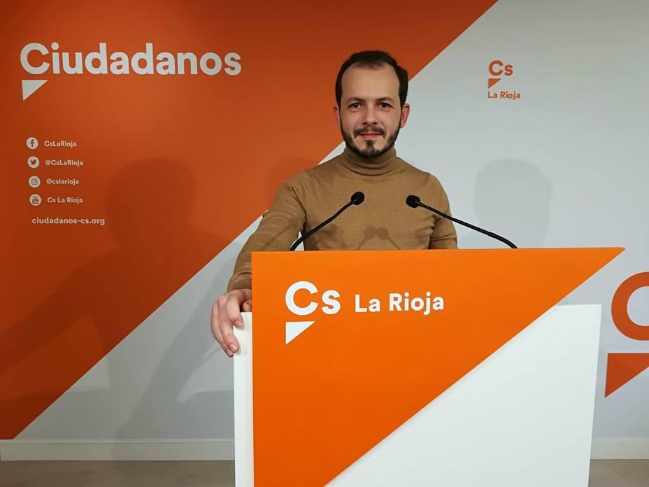 El portavoz autonómico de Cs anuncia que se presenta a las primarias para la presidencia de La Rioja