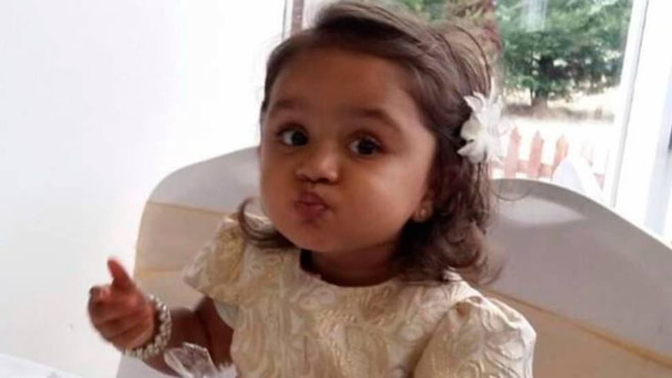 Imágenes de Tafida cedidas por la familia a la BBC