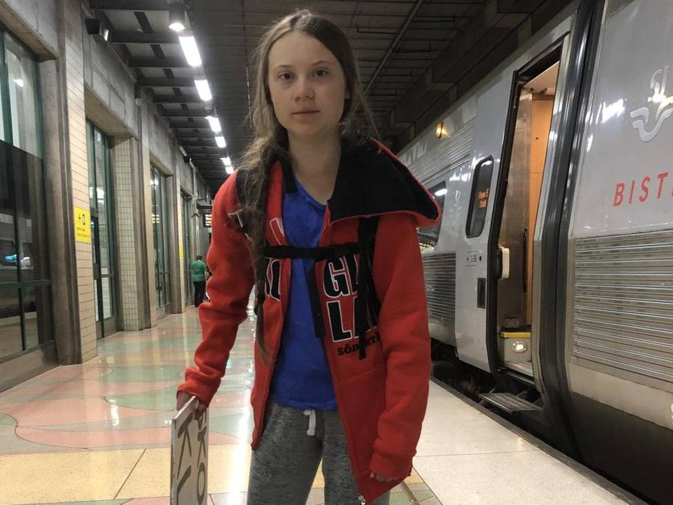 El tren, la opción más probable de Greta Thunberg para llegar a Madrid