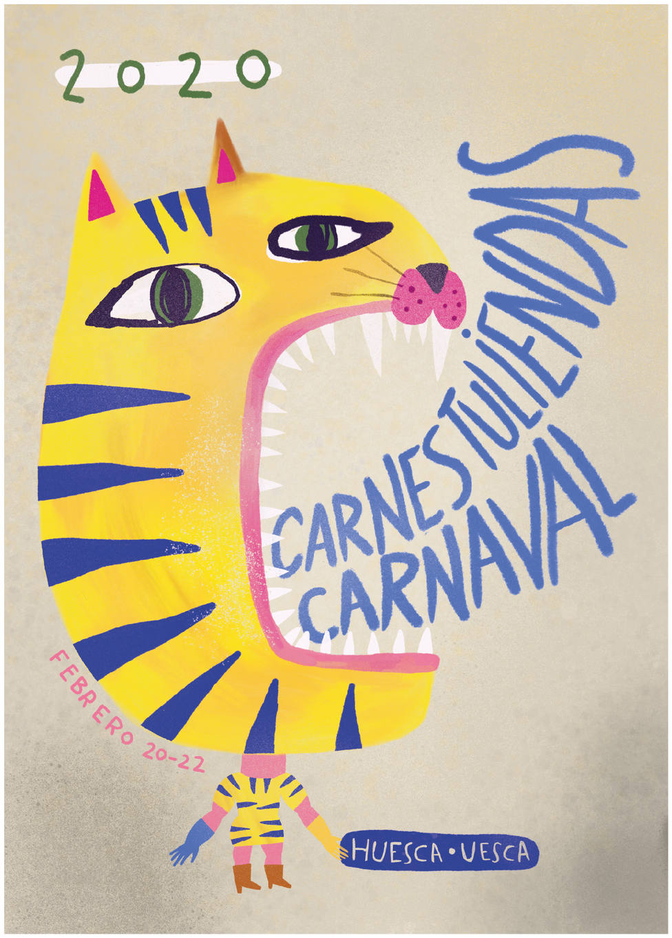 Cartel anunciador de Carnaval