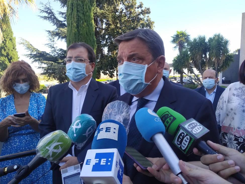 Planas confirma que las obras del regadío de Tierra de Barros dependerán de la aprobación de los presupuestos