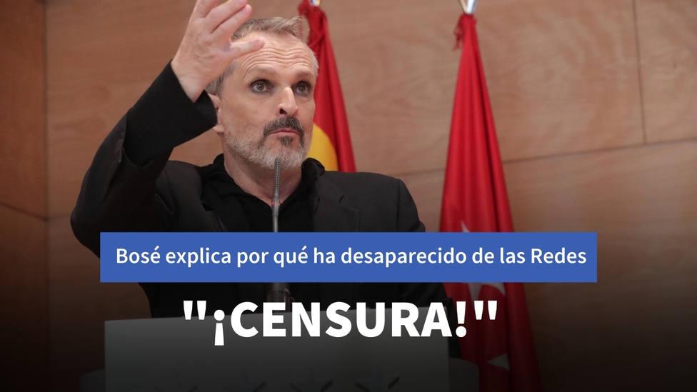 Miguel Bosé desvela los motivos por los que ha dejado las redes sociales: Censura