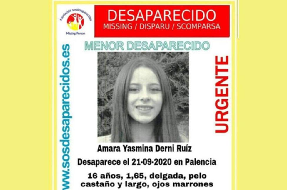 Menor desaparecida en Palencia