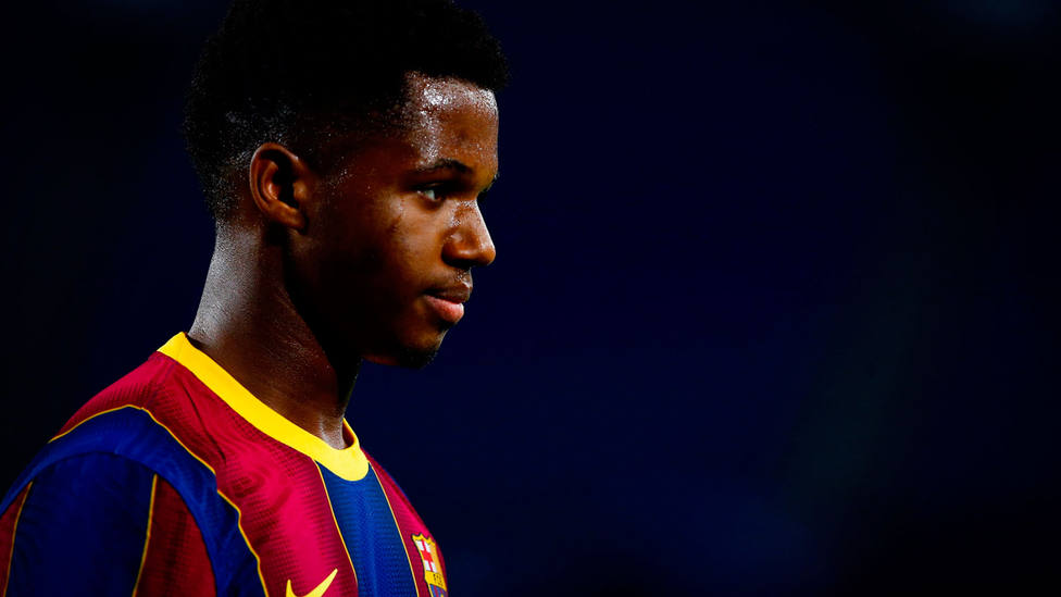 Ansu Fati, jugador del Barcelona. EFE