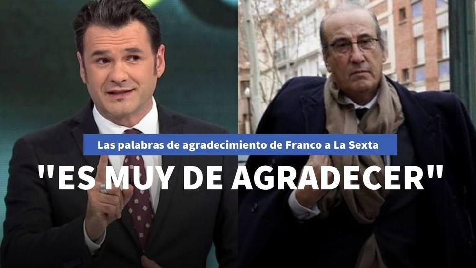 Las palabras de agradecimiento de Francis Franco a La Sexta que enfadan a Pablo Iglesias