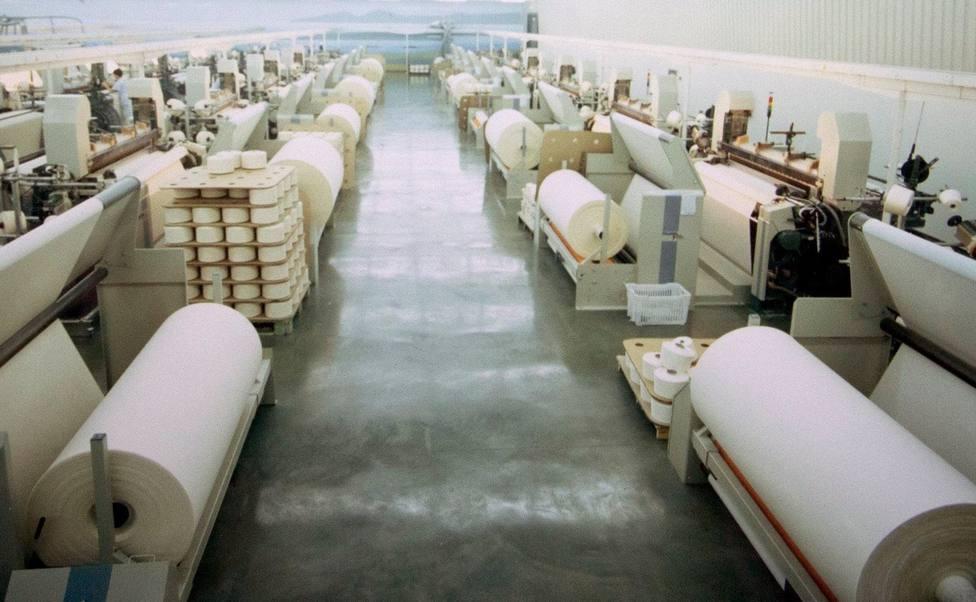 Foto de archivo del interior de la empresa Galicia Textil - FOTO: Cedida