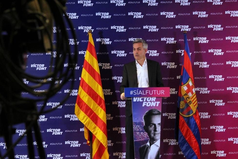 El candidato a las elecciones del FC Barcelona Víctor Font