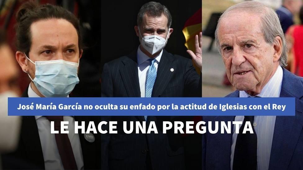 José María García rompe los esquemas contra Iglesias por sus desplantes al Rey: le lanza una pregunta