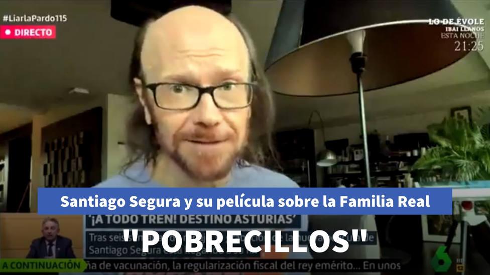 Santiago Segura confiesa a Cristina Pardo cómo sería su película de la Familia Real: Pobrecillos