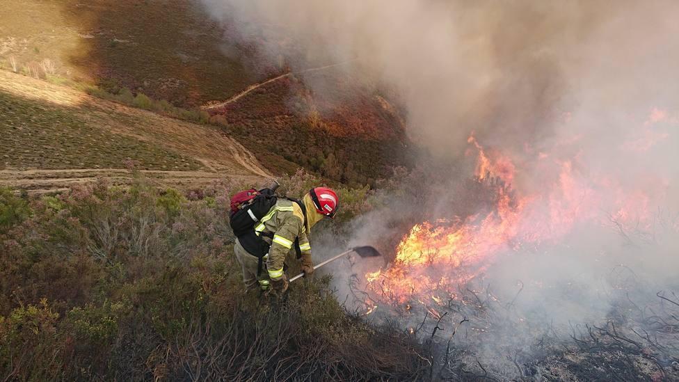 Los incendios forestales registrados en Galicia afectan a unas 500 hectáreas