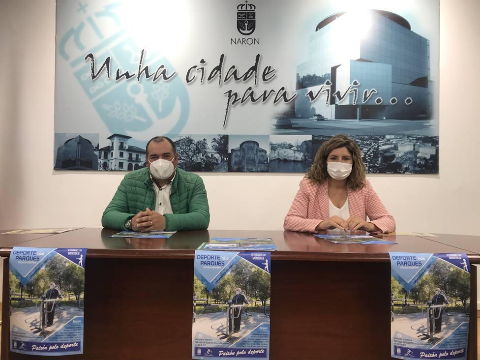 Marián Ferreiro, y el concejal de Deportes, José Oreona. FOTO: Concello de Ferrol