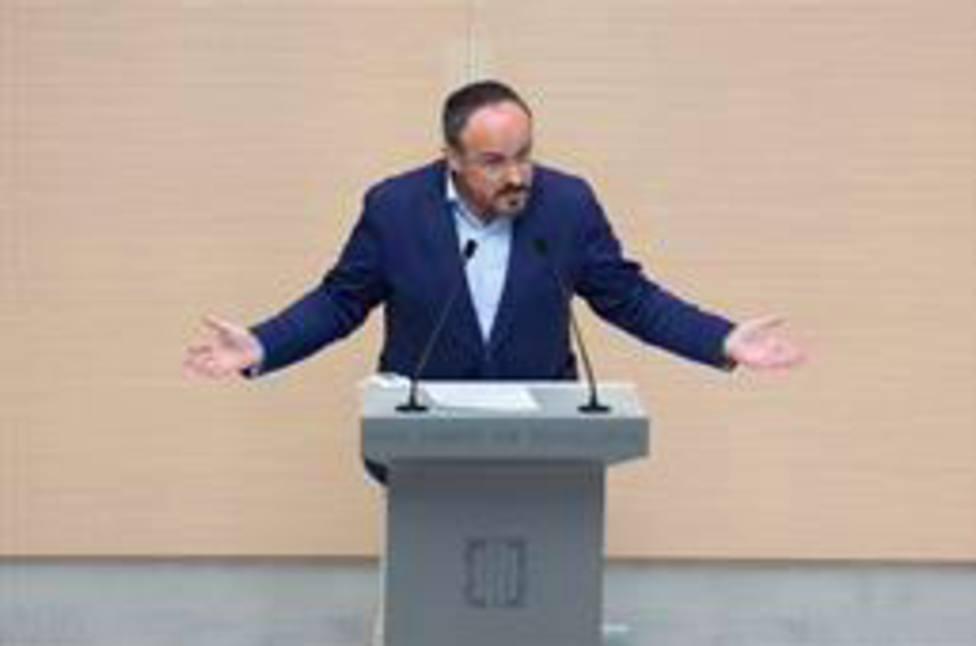 El líder del PP en el Parlament, Alejandro Fernández