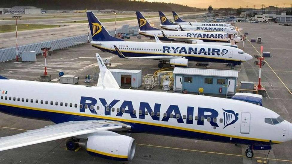 Varias aeronaves de Ryanair