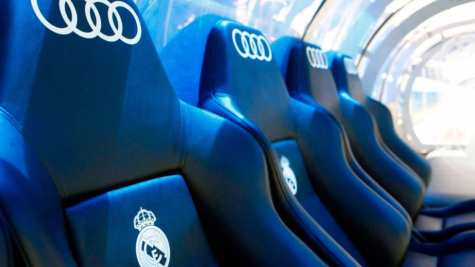 Banquillo del Real Madrid en el Santiago Bernabéu. FOTO: Real Madrid