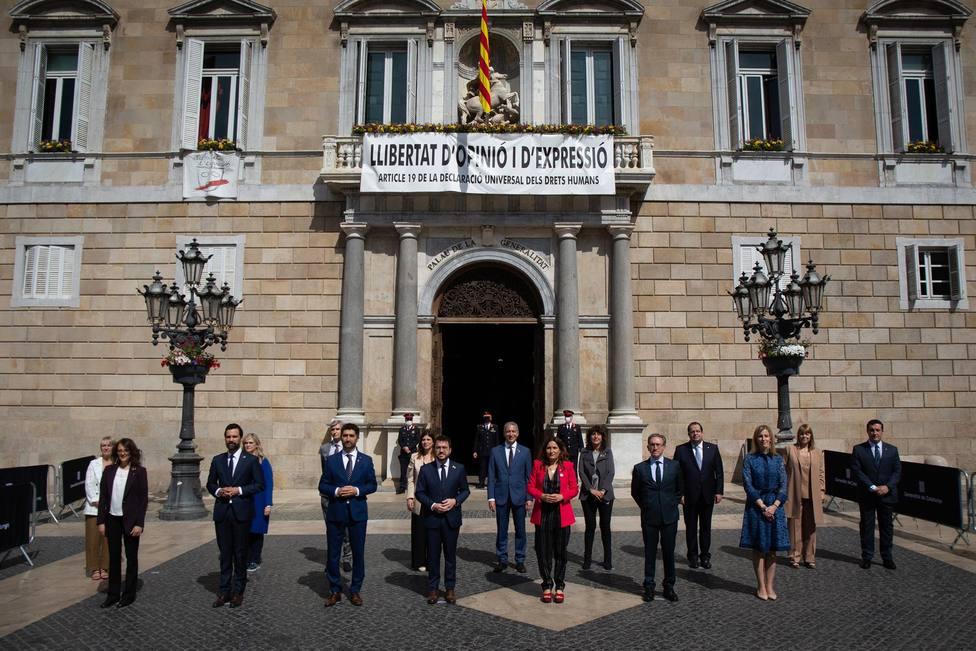 El Govern catalan tras el acto de posesión de sus cargos