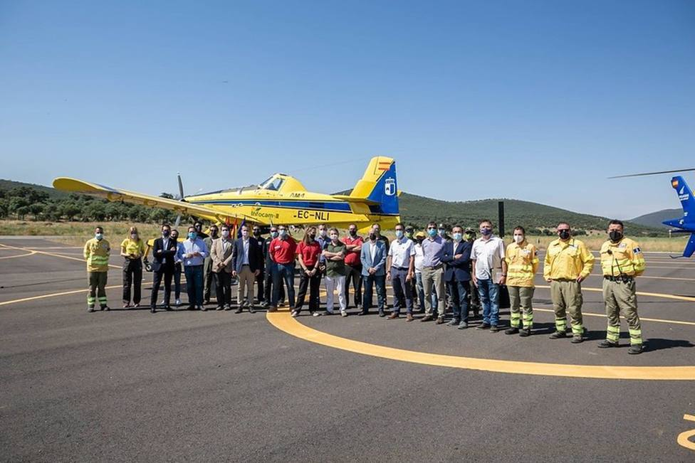 La renovación del aeródromo Quinto de Don Pedro de Los Yébenes entra en funcionamiento tras un millón de euros invertido