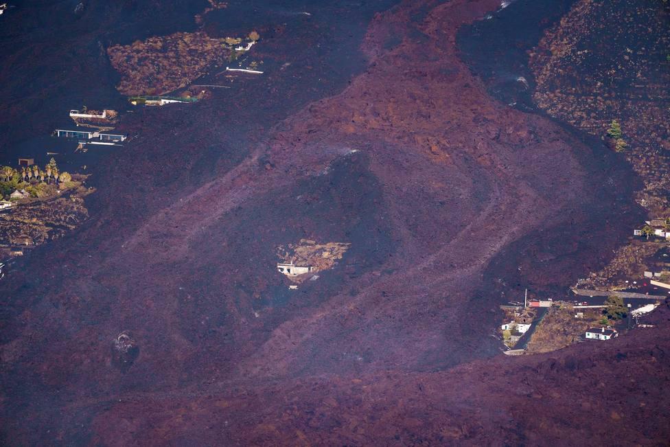 La lava del volcán de La Palma ha arrasado 212 hectáreas y 461 edificaciones han quedado sepultadas