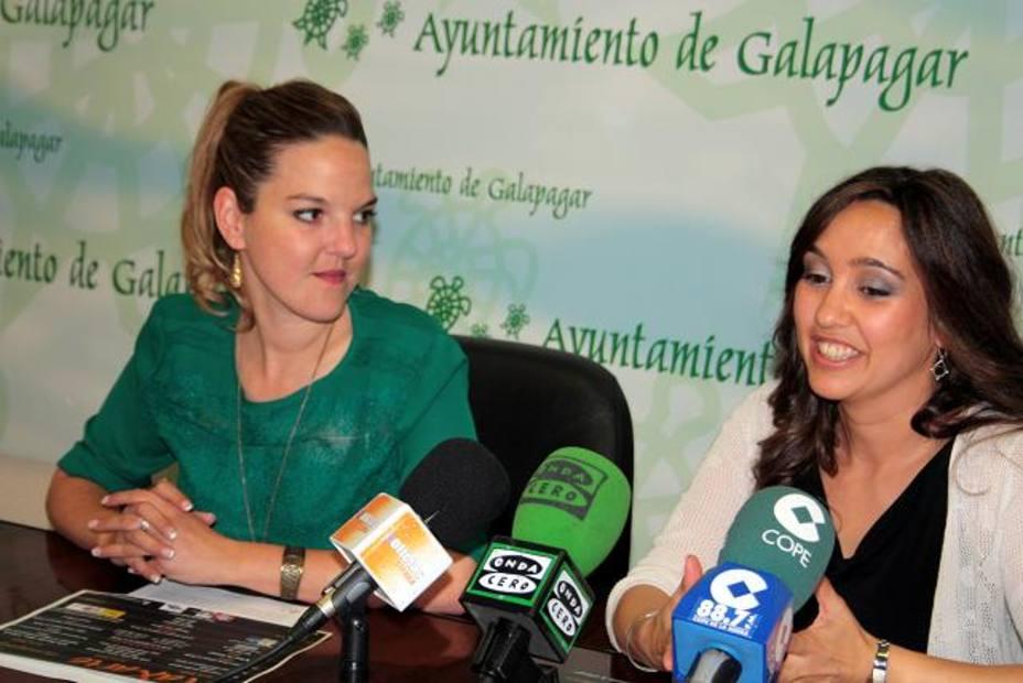 Carla Greciano,edil de Cultura y Patricia Pérez,portavoz de Events and Tools en la presentación de MaxArte