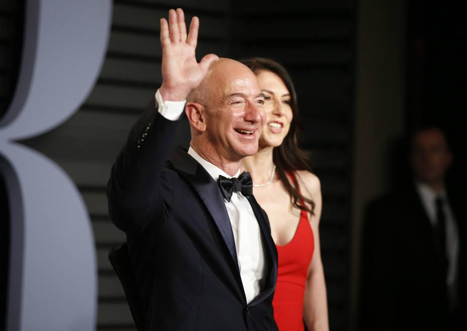 Jeff Bezos en la gala de los Oscar. REUTERS