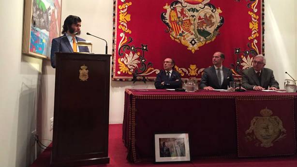 Morante durante el acto de entrega del premio a la Mejor Lección Torera que concede Aula Taurina
