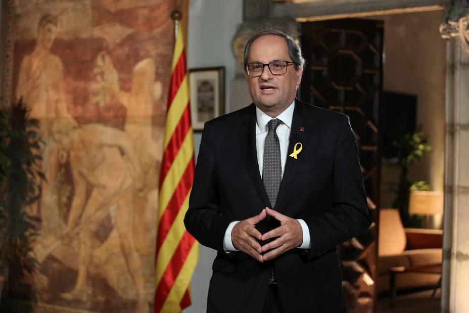 Torra llama a catalanes a resistir y promete hacer efectiva la república